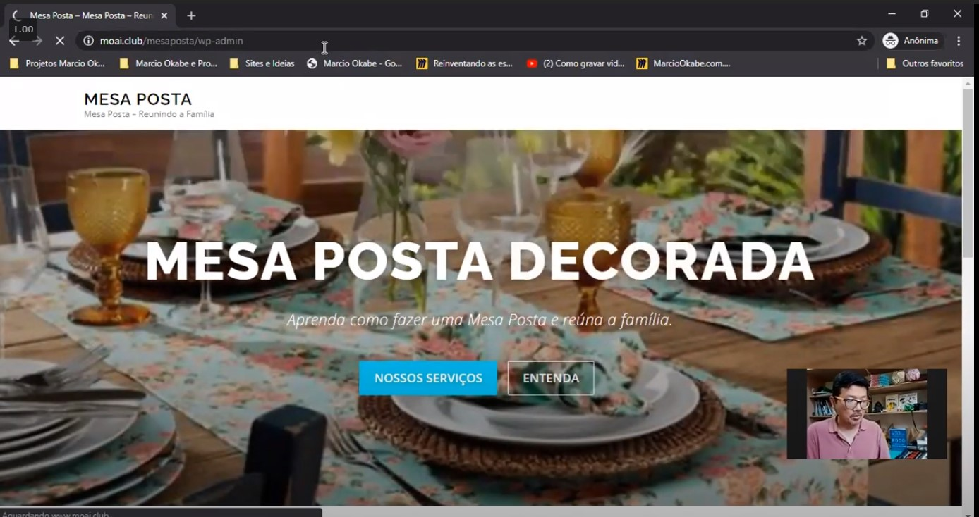 You are currently viewing Site do Mesa Posta em WordPress na GoDaddy